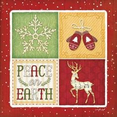 Great Big Canvas 'Christmas Art 'Peace On Earth' by Jennifer Pugh Graphic Art Print Format: Canvas, Size: H x W Diy Christmas Cards, Christmas Images, Christmas Signs, Christmas Printables, Xmas Cards, Christmas Art, Frames For Canvas Paintings, Canvas Art, Canvas Size