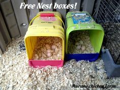 Murano Chicken Farm: Free Nest Boxes. Featured on the Clever Chicks Blog Hop 5-5-13