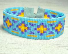 Bead Loom Bracelet Tribal Design Bracelet by SKBeadedJewelry