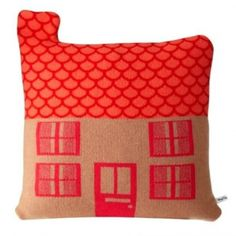 Coussin Maison, orange  Donna Wilson