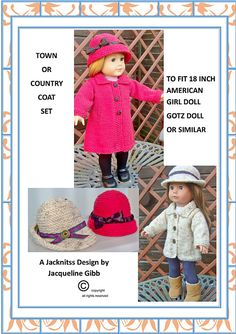 American Girl Doll Town & Country Coat Set.