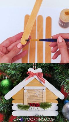 Christmas Decorations For Kids, Kids Christmas Ornaments, Christmas Crafts To Make, Christmas Ideas, Diy Christmas Projects, Kids Christmas Activities, Kids Ornament, Homemade Christmas Tree, Christmas Gifts