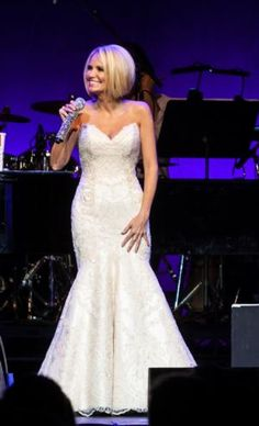 Kristin Chenoweth in concert at the  Royal Albert Hall wearing Matthew Christopher Couture!