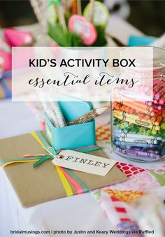 What to include in a child's activity pack at a wedding