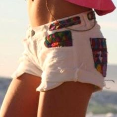 Cut and sew patch shorts....