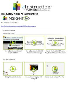 Insight 360 introductory videos by William  McIntosh via slideshare