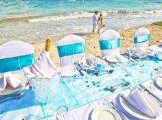 Beachfront Wedding Reception in the Caribbean