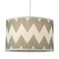 Magna Chevron Drum Shade Pendant Available In 3 Colors: Cocoa And Cream, Green…