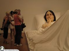 13 Hyper-realistic Sculptures by Ron Mueck | Bored Panda. I love his pieces. I saw one in person at Basel a few years back. Unreal...