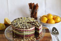 Raw banana layered cake.  #vegan #raw