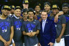 Coach K's Fingerprints All over Freshman Growth, Duke's Run to 2015 Final Four Duke Basketball #DukeBasketball