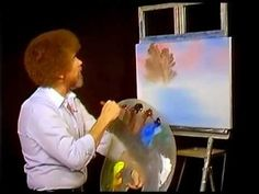 I used to watch Bob Ross every Saturday when cartoons were over!  Loved watching him paint landscapes