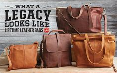 Use these bags, totes and wallets every day — this leather is made to last forever.