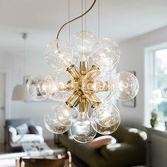 Lux, 494 mässing& - Crystal chandeliers From Krebs Beautiful Interior Design, Modern Chandelier, Light Art, Interior Lighting, Nordic Design, Luxor, Diy And Crafts, House Design, Ceiling Lights
