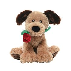 GUND is proud to present Deangelo - a cute and cuddly puppy dog with a very special gift this Valentine's Day. This 8.5' seated doggie holds a plush rose that's sure to inspire a few 'Awww's.' Makes a...