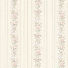 992-68349-Alexis Pastel Satin Floral Stripe wallpaper