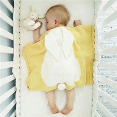 For Sale - Cute Cartoon Rabbit Baby Blanket Newborn Warm Knitted Swaddle Wrap Baby Blanket Sleeping Stroller Photo Baby Swaddle Blankets Cute Blankets, Kids Blankets, Soft Baby Blankets, Knitted Baby Blankets, Muslin Swaddle Blanket, Swaddle Wrap, Baby Girl Toys, Baby Kids, Rabbit Baby