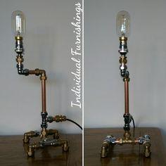 Industrial Lamp - Mixed Metal. Proudly handmade in Britain. www.individualfurnishings.com
