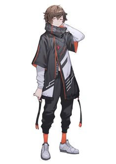 Anime Outfits Male Badass Anime Outfits Male Badass Source by phamlcp clothes ideas male Cyberpunk Kunst, Cyberpunk Anime, Cyberpunk Fashion, Anime Outfits, Male Outfits, Clamp Manga, Character Concept, Character Art, Concept Art