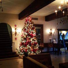Christmas time in boutique hotel, La Casa del Camino, in Laguna Beach.