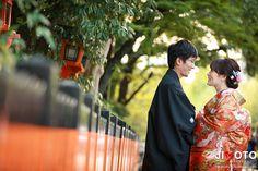 京都での前撮りロケーション撮影で祇園で撮影しました。