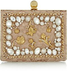 Dolce & Gabbana Ava crystal-embellished satin and lace box clutch on shopstyle.com 3,800