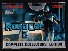 1990 Topps RoboCop 2 Movie Factory Set - 121 Total Glossy Cards - Tiffany