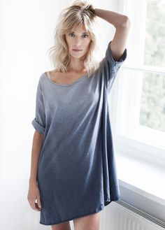 BY THE MOON. Blue ombre tunic.
