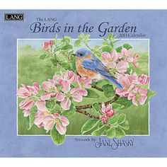Birds in the Garden Wall Calendar: Jane Shasky's Birds in the Garden radiates beauty and lightness with lively floral and majestic birds. Industry rated as the #1 calendar since 1999, LANG Wall Calendars are the most popular brand among consumers year after year.  $15.99  http://calendars.com/Bird-Art/Birds-in-the-Garden-2013-Wall-Calendar/prod201300001771/?categoryId=cat00177=cat00177#