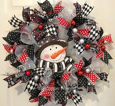Image result for black and white christmas wreath