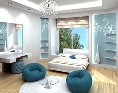teen bedrooms for girls | Bedroom For Teen Girl Blue Color