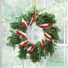 Wreath with cranberry garland