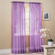 "2-Piece Solid Lavender Purple Sheer Window Curtains/Drape/Panels/Treatment 60""w X 84"" by Animals, http://www.amazon.com/dp/B002FRM9DC/ref=cm_sw_r_pi_dp_7q9Wqb1TCHE32"
