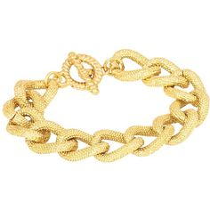 Adele Marie Textured Chunky Link Bracelet, Gold ($18) ❤ liked on Polyvore featuring jewelry, bracelets, pulseiras, gold jewellery, party jewelry, yellow gold jewelry, yellow gold bangle and chunky jewelry