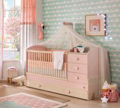 Cilek Baby Girl Kombi Kiságy Pótággyal (80×180 Cm) 20.42.1015.00.1 Kids Decor, Home Decor, Kidsroom, Cribs, Minimalism, Toddler Bed, Interior Design, Modern, Playground