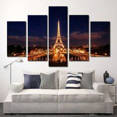 H.COZY - art on canvas 40*24  Paris home décor is cute, trendy and adorable.  In fact, it is perfect for anyone who has or wants to visit Pairs.  Paris themed home décor is really trendy and popular all over the world.  For this reason, I really love Paris wall art, Eiffel Tower bedding not to mention other cute Parisian decorative accents.  Any room of your home living room, bedroom, kitchen, and even bathrooms can look charming, unique and elegant.