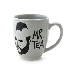 Mr T Mr Tea Mug- Grey or gray stoneware depending on what part of the world you live in. This is a handmade mug that I have created as an homage to A Team cast member: Mr. T or Mr Tea as I like to cal