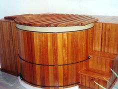 Great Northern Hottub w/steps and Seating-our Rubadub Tubs™ Hot Tub Cover, Bethany Beach, Gabel, Western Red Cedar, Backyard Patio, Amazing Gardens, Indoor, Hot Tubs, Traditional