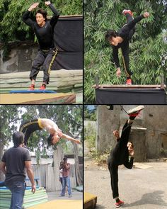 """Actor Tiger Shroff, who has performed daredevilry in films like """"Heropanti"""" and """"Baaghi"""", says he used cables for the first time for stunts in """"A Flying Jatt"""". He feels it's an art to perform action with cables. """"'A Flying Jatt' is my most challenging film and I am very happy that Remo (D'Souza) sir has … Continue reading """"Cable Work For Stunts Difficult: Tiger Shroff"""" Bollywood Stars, Bollywood News, Tiger Shroff Body, All About Tigers, Tiger Love, Best Hero, Best Actor, Stunts, Hollywood"""
