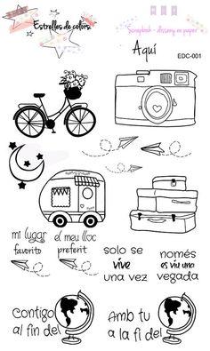 Colección de sellos acrílicos AQUÍ para por Estrellesdecolors