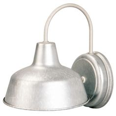 Portfolio Galvanized Steel Outdoor Wall Light from Lowes (barn light)