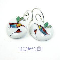 Handbemalte Ohrringe Ohrhänger Kolibri Ohrringe Spoon Rest, Jewellery, Etsy, Tableware, Accessories, Style, Fashion, Ring, Ideas