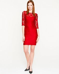 Lace Illusion Fitted Dress