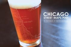 Chicago Street Maps Pint