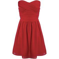 Rare London Chiffon Bandeau Dress ($87) ❤ liked on Polyvore