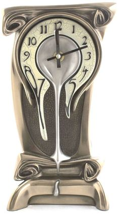 Amazon.com - Art Nouveau Melting Bronze Table Clock