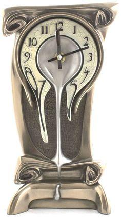 Amazon.com - Art Nouveau Melting Bronze Table Clock