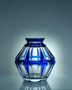 Val St Lambert - Vase années 20.