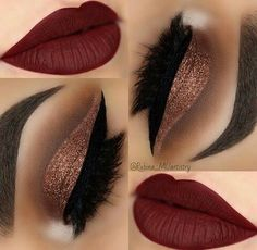 Great RED lip colour...beautiful shimmery eye shadow!