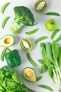 Green fruits and vegetables by alita  molly beth